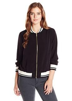 Calvin Klein Women's Jacket with Rib-Cuff Neck