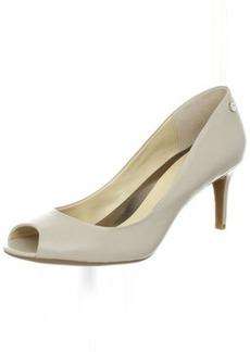 Calvin Klein Women's Kasia Calf Peep-Toe Pump