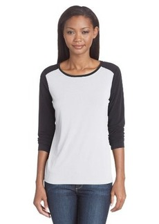 Calvin Klein Women's Long Sleeve Colorblock Crew Neck Top