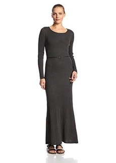 Calvin Klein Women's Long-Sleeve Maxi Sweater Dress