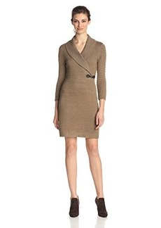 Calvin Klein Women's Long-Sleeve Side Buckle Detail Sweater Dress