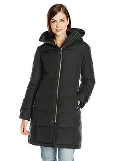 Calvin Klein Women's Mid-Length Down Coat with Faux-Fur Trim