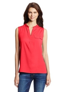 Calvin Klein Women's Mixed Media Top