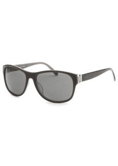 Calvin Klein Women's Oval Gray & Transparent Sunglasses