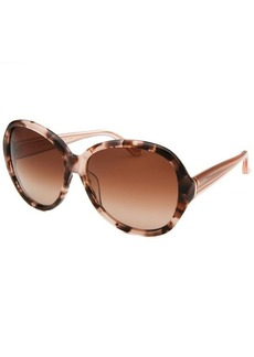 Calvin Klein Women's Oversized Blush Tortoise Sunglasses