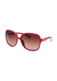 Calvin Klein Women's Oversized Red Sunglasses