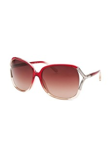 Calvin Klein Women's Oversized Translucent Pink Gradient Sunglasses