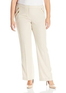 Calvin Klein Women's Pant with 3 Zips, Latte, 16