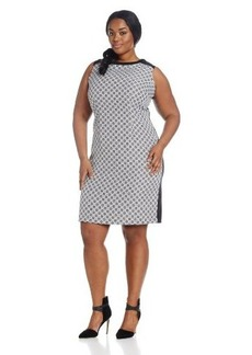 Calvin Klein Women's Plus-Size Geo Print Dress