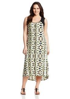 Calvin Klein Women's Plus-Size Print Hi-Lo Maxi Dress