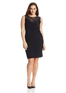 Calvin Klein Women's Plus-Size Sleeveless Lace Banded Dress
