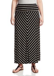 Calvin Klein Women's Plus-Size Striped Maxi Skirt