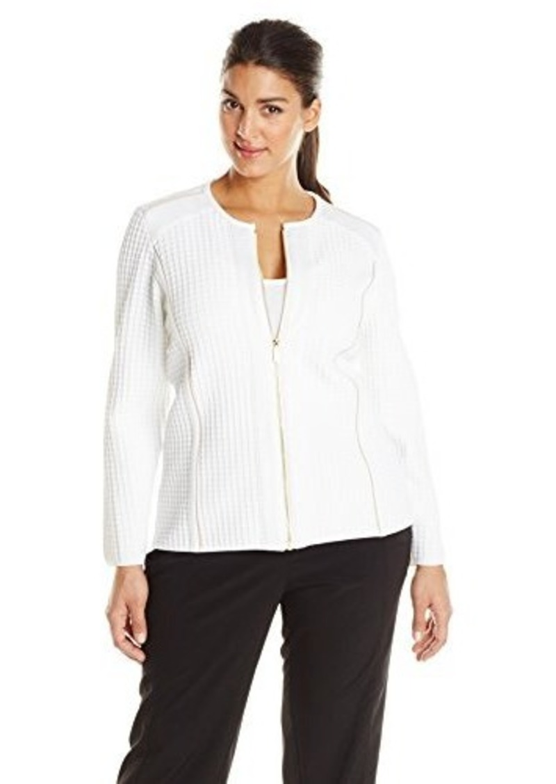 calvin klein calvin klein women 39 s plus size sweater jacket. Black Bedroom Furniture Sets. Home Design Ideas