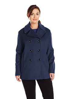 Calvin Klein Women's Double Breasted Classic Pea Coat