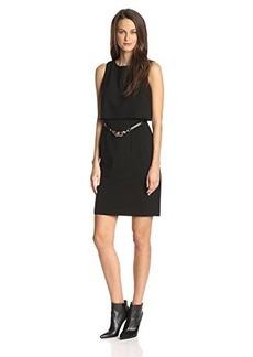 Calvin Klein Women's Pop Over Dress with Belt