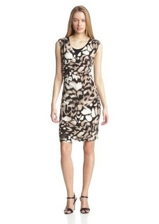 Calvin Klein Women's Print Double Layer Wrap Dress