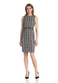 Calvin Klein Women's Print Dress with Belt