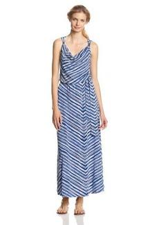 Calvin Klein Women's Print Maxi Dress with Hardware