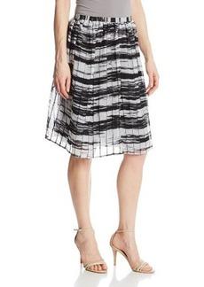 Calvin Klein Women's Print Pintuck Skirt