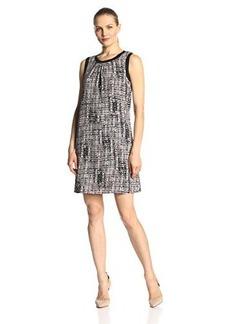 Calvin Klein Women's Print Rib Trim Dress