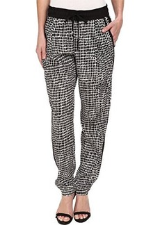 Calvin Klein Women's Print Tapered Pant, Black Trellis, Large