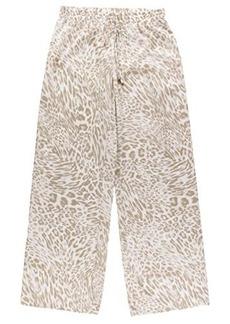 Calvin Klein Women's Print Wide Leg Pant, Latte/Multi, Medium
