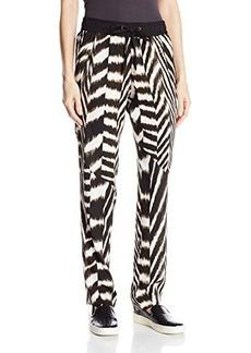 Calvin Klein Women's Printed Tapered Pant, Zebra, X-Large
