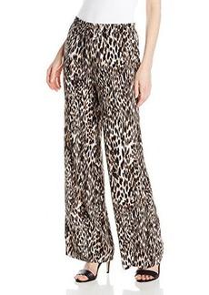 Calvin Klein Women's Printed Wide Leg Pant, Neutral/Multi, X-Small