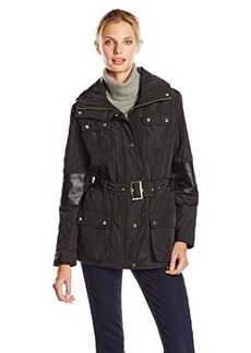 Calvin Klein Women's Quilted Jacket with Belt