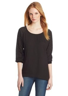 Calvin Klein Women's Raglan Top With Studs