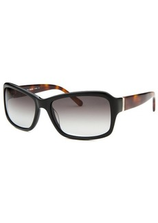 Calvin Klein Women's Rectangle Black & Havana Arms Sunglasses