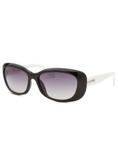 Calvin Klein Women's Rectangle Black Sunglasses