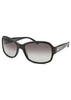 Calvin Klein Women's Rectangle Black Sunglasses
