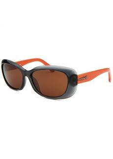 Calvin Klein Women's Rectangle Blue Translucent Sunglasses