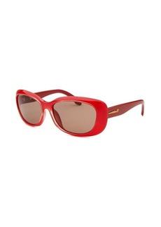 Calvin Klein Women's Rectangle Coral Sunglasses