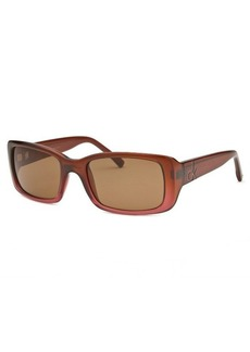Calvin Klein Women's Rectangle Dark Coral Sunglasses