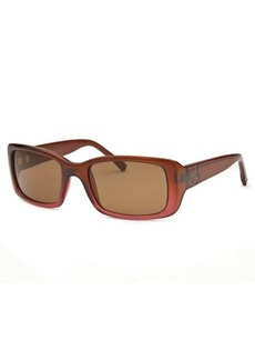 Calvin Klein Women's Rectangle Dark Coral Sunglasses