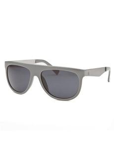 Calvin Klein Women's Rectangle Dark Grey Sunglasses