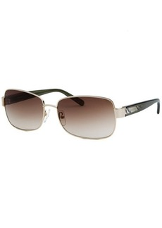 Calvin Klein Women's Rectangle Gold-Tone Sunglasses