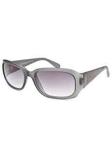 Calvin Klein Women's Rectangle Grey Sunglasses