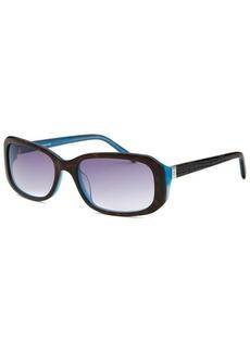 Calvin Klein Women's Rectangle Havana and Blue Sunglasses