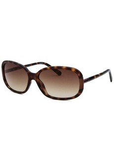 Calvin Klein Women's Rectangle Havana and Gunmetal Sunglasses