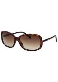 Calvin Klein Women's Rectangle Havana and Gunmetal Sunglasses