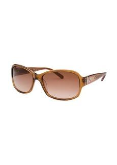 Calvin Klein Women's Rectangle Honey Crystal Sunglasses