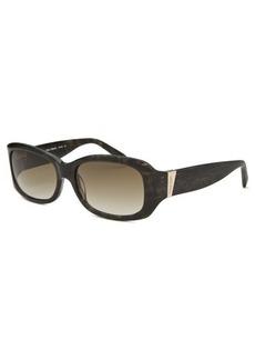 Calvin Klein Women's Rectangle Olive Horn Sunglasses