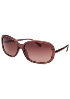 Calvin Klein Women's Rectangle Pink Translucent Sunglasses
