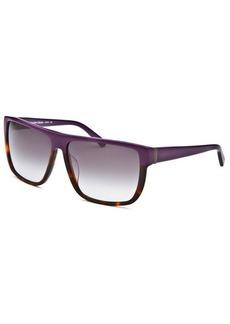 Calvin Klein Women's Rectangle Purple & Tortoise Sunglasses