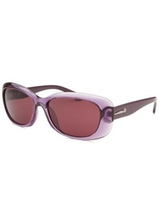 Calvin Klein Women's Rectangle Purple Translucent Sunglasses