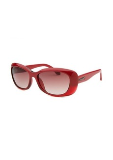 Calvin Klein Women's Rectangle Red & Translucent Sunglasses