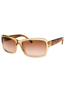 Calvin Klein Women's Rectangle Sand Translucent Sunglasses